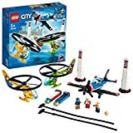 LEGO- City Carrera Aérea Airport Aeropuerto, Set Helicópteros Incorporado, Aviones de Juguete para Niños +5 Años, Multicolor (60260)