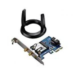 ASUS PCE-AC55BT_B1 - Tarjeta de Red Wi-Fi PCI-e AC1200 + Bluetooth 4.0 con tecnología BLE (Dual-Band, 2x2 MIMO)