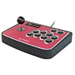 Lioncast Arcade Fightstick Palanca de Mando Controlador con Botones programables, Sanwa, Turbo/Modo rápido y Base de Goma para PC/Sony Playstation (PS2, PS3)