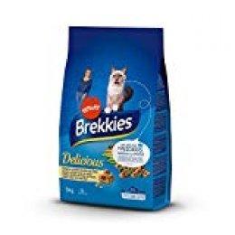Brekkies Pienso para Gatos Delicious con una Selección de Pescado - 3000 gr
