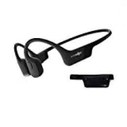 AfterShokz Aeropex, Auriculares Deportivos Inalámbricos con Bluetooth 5.0, Tecnología de Conducción Ósea, Diseño Open-Ear, Resistente al Polvo y al Agua IP67, Cosmic Black