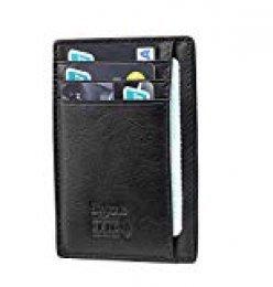flintronic Billetera, Tarjetas de Crédito Slim Moda RFID Bloqueo Monedero de Cuero, Mini Billetera para Cartera ID,Tarjetas Crédito Licencia de Conducir