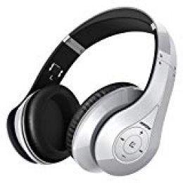 Mpow 059,Auriculares Bluetooth de Diadema Inalámbricos,Cascos Bluetooth Plegable con Micrófono Manos Libres y Hi-Fi Sonido Estéreo 20hrs Reproducción de Música Orejeras de Memoria Suave