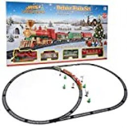 Juguete Educativo del Tren, Estilo de Navidad Juguete de Via de Tren Electrico Puzzle Model DIY Kid Toy