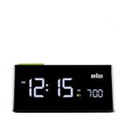 Braun - Despertador digital vertical con LCD BNC016BK, color negro