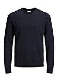 Jack & Jones Jjebasic Knit Crew Neck Noos suéter, Azul (Navy Blazer), X-Large para Hombre