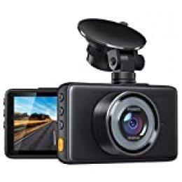 APEMAN Cámara de Coche Dash CAM 1080P FHD DVR Pantalla LCD de 3 Pulgadas 170°Gran AngularG-Sensor, WDR, Monitor de Aparcamiento, Grabación en Bucle, Detección de Movimiento