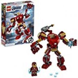 LEGO Super Heroes - Armadura Robótica de Iron Man, Juego de Construcción de Figura de Acción Mecánica de Juguete, Set de Meca Coleccionable (76140)