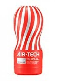 Tenga Air Tech Regular, Funda Masturbadora, 6.9 × 15.5 x 6.9 cm, Color Rojo / Gris - 235 gr