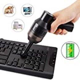 FREESOO Aspirador Teclado Mini Limpiador de Teclado Inalámbrico de Mano Recargable con Li-batería Aspirador Portátil de Alta Aspiración para Portátil Ordenador PC Escritorio Coche TV Muebles Juegos