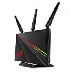 ASUS ROG Rapture GT-AC2900 - Router Gaming Doble Banda AC2900 Gigabit (Triple VLAN, Nvidia GeForce Now, Modo Repetidor/Punto de Acceso, AiProtection Pro, soporta Ai Mesh WiFi, Aura RGB)
