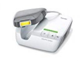 Beurer IPL9000 + - Depiladora de luz, pulsada con base, incluye cartucho de 100.000 pulsaciones, color blanco