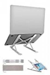 Soporte Portátil, Tenshpy Soporte Ordenador portátil Ergonomic 8 Ángulos Adjustable Laptop Stand para computadora portátil, teléfono y Almohadilla de Menos de 17 Pulgadas