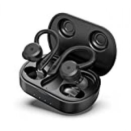 HolyHigh Auriculares Inalambricos Deportivos Auriculares Bluetooth 5.0 IPX7 Impermeable 26H de Autonomía Auriculares Inalámbricos con Caja de Carga Micrófono para Correr Deporte para iOS Android
