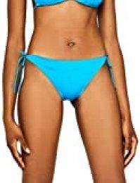 Marca Amazon - IRIS & LILLY Tie-Side Triangle, Braguita de Bikini para Mujer
