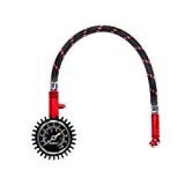 Audew Manómetro de presión de neumáticos Manómetro mecánico Profesional de Vaciado de neumáticos 0-100 PSI para neumáticos Pesados Manómetro de presión de neumáticos preciso con un Gran indicador