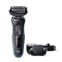 Braun Series 5 50-M4500cs Afeitadora Eléctrica, máquina de afeitar barba hombre de Lámina, Con Base De Carga, recortadora de barba, Uso En Seco Y Mojado, Recargable, Inalámbrica, Menta