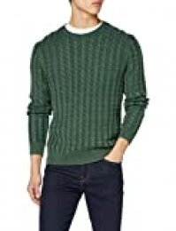 HKT by Hackett Hkt Washed Cable Crew suéter para Hombre