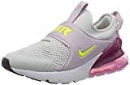 Nike Air MAX 270 Extreme (GS), Zapatillas para Correr Unisex niños, Photon Dust Lemon Venom Iced Lilac Black, 37.5 EU