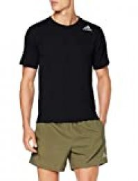 adidas FreeLift Climachill 3-Stripes tee Men Camiseta de Manga Corta, Hombre, Negro (Black), M