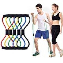 Bandas Elasticas Fitness, Bandas de Resistencia para Entrenamiento de Fuerza, Banda Elástica para Fitness, Yoga en Casa.
