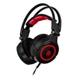 Thermaltake Cronos Riing RGB 7.1 USB Monoaural Diadema Negro, Rojo Auricular con micrófono - Auriculares con micrófono (PC/Juegos, 7.1 Channels, Monoaural, Diadema, Negro, Rojo, Varios)