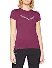 SALEWA Solid Dri-rel W S/S tee Camiseta, Mujer