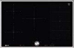 Neff T58BT20N0 Integrado Inducción Negro, Acero inoxidable hobs - Placa (Integrado, Inducción, Vidrio y cerámica, Negro, Acero inoxidable, Acero inoxidable, AENOR, CE)