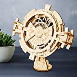 AUNMAS Rompecabezas de Madera Modelo 3D Calendario perpetuo Kits de Modelos mecánicos para niños Adultos DIY Construcción Home Desk Decoration