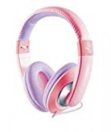 Trust Sonin - Auriculares para niños con limitador de volumen, rosa