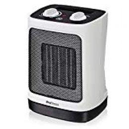 Pro Breeze Mini Calentador Cerámico 2000W. Oscilación Automática y 2 Configuraciones de Temperatura, Blanco