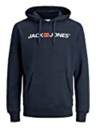 Jack & Jones Jjecorp Logo Sweat Hood Noos Capucha, Azul (Navy Blazer Detail: Reg Fit), Medium para Hombre