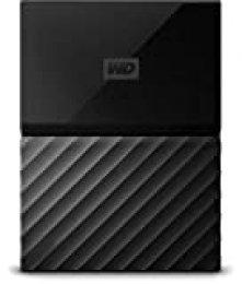 WD My Passport - Disco Duro Portátil de 1 TB y Software de Copia de Seguridad Automática, Negro