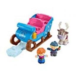 Fisher-Price Little People Disney Frozen El trineo de Kristoff, juguetes niños +2 años (Mattel GGV30)
