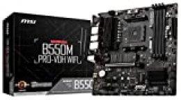 MSI B550M Pro-VDH WiFi - Placa Base Pro Series (AMD Ryzen 3000 3rd Gen AM4, DDR4, M.2, USB 3.2 Gen 1, Front Type-C, Wi-Fi, HDMI, Micro ATX)