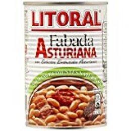 LITORAL Fabada Asturiana - Plato Preparado de Fabada Asturiana Sin Gluten - Pack de 6x435 g