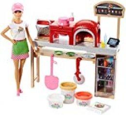 Barbie Quiero Ser pizza chef, muñeca y accesorios de juguete, regalo para niñas y niños 3-9 años (Mattel FHR09) , color/modelo surtido