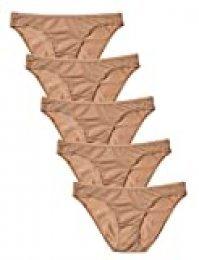 Marca Amazon - Iris & Lilly Braguita Mujer, Pack de 5, Beige (Pale Nude), XS, Label: XS