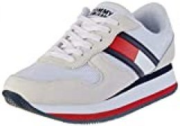 Tommy Hilfiger Flatform Runner Colour Sneaker, Zapatillas para Mujer, Rojo (RWB 0kp), 42 EU