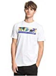 Quiksilver Jam It - Camiseta para Hombre Screen tee, Hombre, White, S