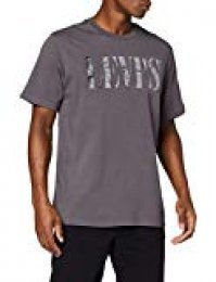 Levi's Relaxed Graphic tee Camiseta, Gris (90's Serif Logo Forged Iron 0045), Small para Hombre
