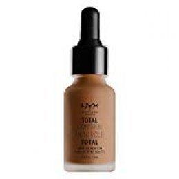 NYX Professional Makeup Base de maquillaje Total Control Drop Foundation, Dosificación precisa, Cobertura modulable, Larga duración, Fórmula vegana, Acabado mate, Tono: Mocha