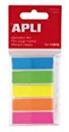 APLI 11912 - Índices adhesivos (12 x 45), film colores flúor