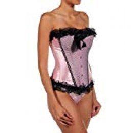 Intimax corsets lencería y moda Cupido Corsé, Rosa/Negro, S para Mujer