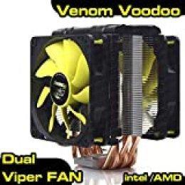 Akasa AK-CC4008HP01 Venom Voodoo - Ventilador para CPU