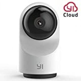 YI Cámara de Vigilancia WiFi Dome X Cámara IP Interior Pan-Tilt 1080P Cámara Vigilancia Inalámbrica 360° con Micrófono y Altavoz Visión Nocturna Detección de Movimiento Compatible con iOS, Android