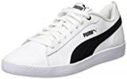 PUMA Smash Wns v2 L, Zapatillas para Mujer, Blanco White Black, 42.5 EU