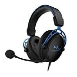 HyperX HX-HSCAS-BL/WW Cloud Alpha S – Casco para Gaming con tarjeta de sonido envolvente HyperX Virtual 7.1 y sonidos graves (Bass) ajustables