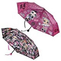 CERDÁ LIFE'S LITTLE MOMENTS- 2400000503_T50C-C08 Paraguas de Mano Plegable para Niños de LOL Surprise - Licencia Oficial MGA, Multicolor (8427934344574)