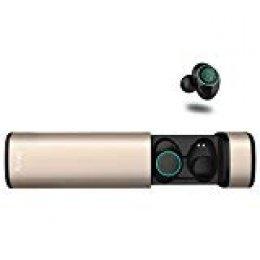 Auriculares Bluetooth, Arbily Auriculares Inalámbricos Auriculares Manos Libres con Microfono y Cancelación de Ruido IPX5 Auriculares estéreo inalámbricos a Prueba de Agua con Caja de Carga